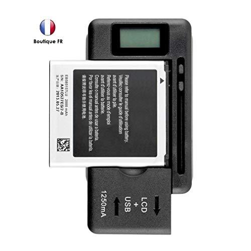 MoVTTEK France - Cargador de batería universal con pantalla LCD para Samsung Galaxy S2/S3/S4/S5/J3/J6, etc. Note 1, Note 2, Note 3, Note 4, LG G4 G3 y Wiko View