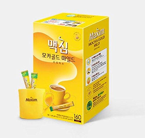 Maxim südkoreanisch instant-kaffee 160-sticks (mokka gold) mokka-gold-