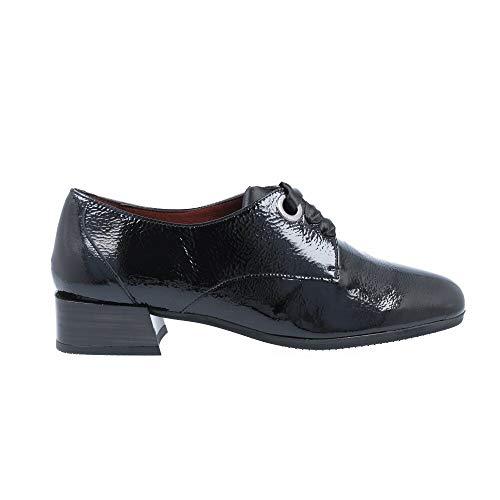 Hispanitas_ Zapatos Cordones de Charol Negro para Mujer (36)