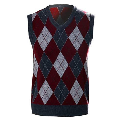 NUWIND Paraguas uniforme de la academia disfraz de Halloween traje de cosplay traje de cuello en V suéter a cuadros chaleco de diamantes prendas de punto sin mangas jersey