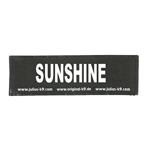 Julius-K9 162LR-G-34339 Klettaufschrift, Sunshine, schwarz