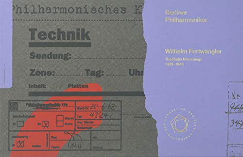Wilhelm Fürtwangler - The Radio Recordings 1939 - 1945. Berliner Philharmoniker. SACD