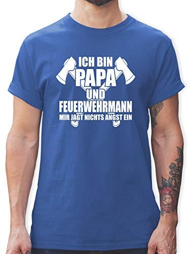 Feuerwehr - Ich Bin Papa Feuerwehr - L - Royalblau - Feuerwehr Papa - L190 - Tshirt Herren und Männer T-Shirts