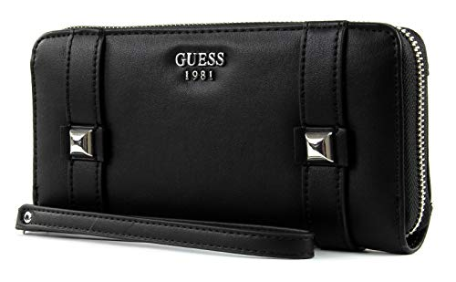 GUESS Exie SLG Large Zip Around Black