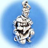 Chinese Xian Terracotta Warrior 3D .925 Solid Sterling Silver Charm Pendant Vintage Crafting Pendant Jewelry Making Supplies - DIY for Necklace Bracelet Accessories by CharmingSS