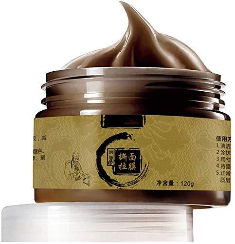 Herbal Beauty Peel-Off-Maske, Ginseng Charcoal Mitesser-Maske Transitional Herbal Ginseng Black Head Peel-Off-Maske für Frauen und Männer