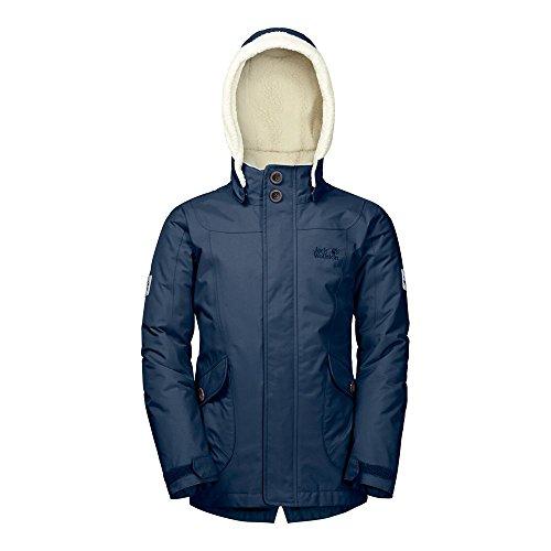 Jack Wolfskin Girls Great Bear Jacket - Winterjacke, Größe_Bekleidung_Kinder:128, Wolfskin_Farbe:Dark Sky