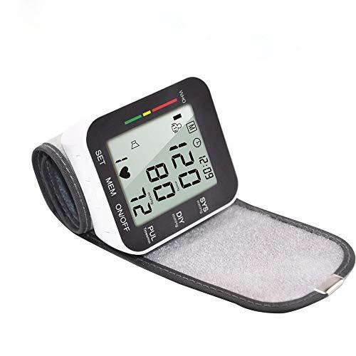 HHY Blutdruckmessgerät, Digital Handgelenk-Blutdruckmessgerät Vollautomatisch Blutdruckmessgerät und Pulsmessung, LCD Display und Speicherfunktion, 2x90 Dual-User-Modus Schwarz