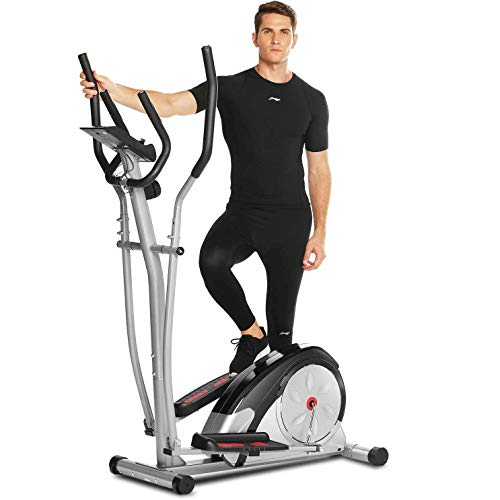 FUNMILY Elliptical Machine for Home Use, Cross Trainer with LCD Monitor & 8 Level Magnetic...