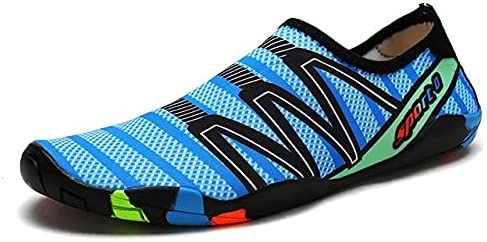 YINI Unisex Swimming Water Shoes Men Barefoot Outdoor Beach Sandals Upstream Aqua Shoes Plus Size Nonslip River Sea Diving Sneakers (Color : 25, Shoe Size : 41)