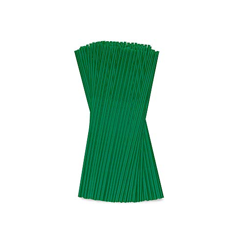 BIOZOYG umweltfreundliche Trinkhalme Ø 0,5 cm I 400 Strohhalme aus PLA Bio-Kunststoff 20 cm grün einzeln verpackt I Nachhaltige Trinkröhrchen Plastik Trinkhalme biologisch abbaubar