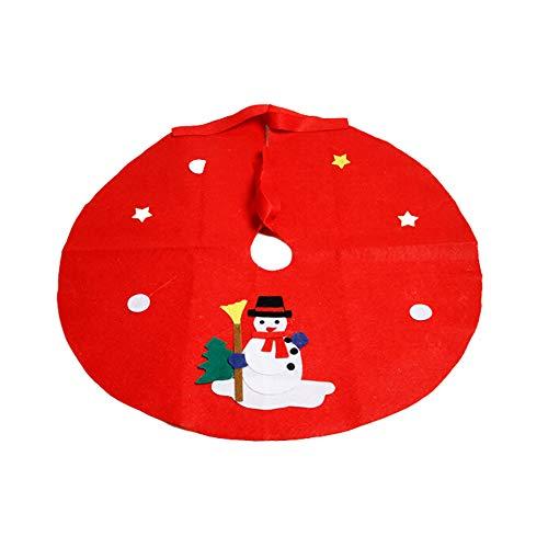 DERKOLY - Alfombrilla de suelo para árbol de Navidad, diseño de muñeco...
