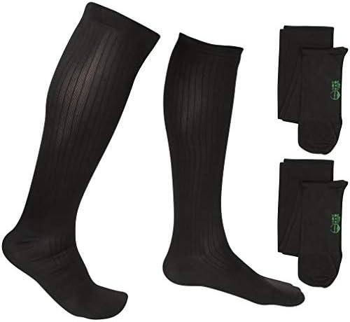 2 Pair EvoNation Men s USA Made Graduated Compression Socks 8 15 mmHg Mild Pressure Medical product image