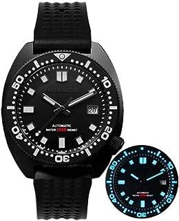 Sports Watches - San Martin Diver Black Warrior 6105 Turtle Colorful Super Luminous NH35 Automatic Mechanical Men Watch 20...