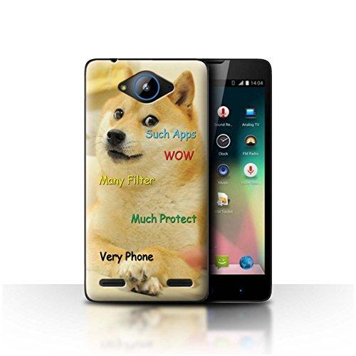 Stuff4® Hülle/Hülle für ZTE Blade L3 Plus/Much Protect Muster/Lustiger Shibe Doge Meme Kollektion