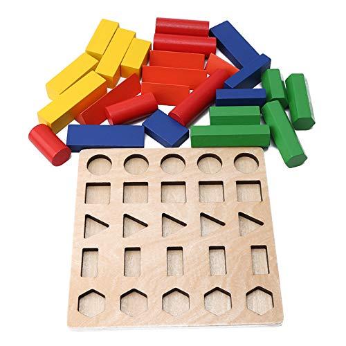 Generic Ristiege Holz Bunte Blöcke Spiele Set pädagogische Form und Farbe Sortierspielzeug für Kinder