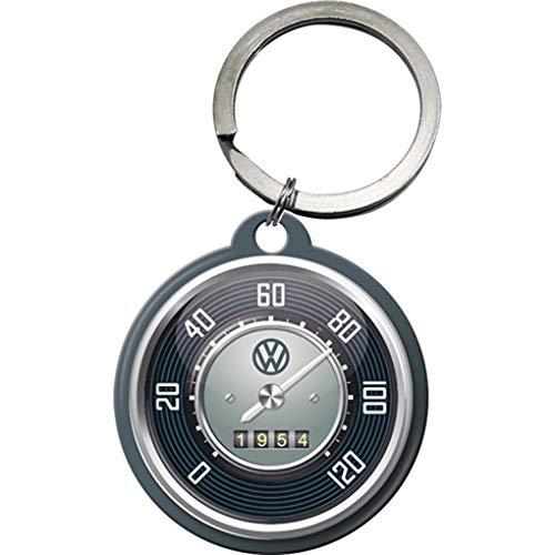 Nostalgic-Art 48022 Volkswagen - VW - Tachometer, Schlüsselanhänger Rund 4 cm