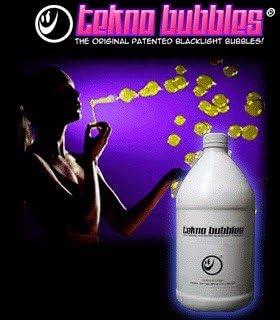 Tekno Bubbles - Gold UV Blacklight Reactive - Half Gallon - 64 O