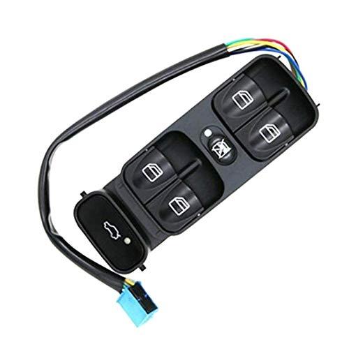 KUANGQIANWEI Botonera elevalunas Ventana de Control de Potencia Interruptor de botón en Forma for el Mercedes Clase C W203 C180 C200 C220 2038210679 A2038210679 (Color Name : Black)