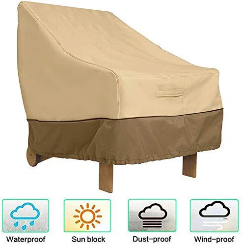 Covers – Funda protectora para silla, veranda, sofá, lounge fundas para asientos profundos, exterior para muebles de patio, resistente al agua, resistente al viento, 210OxforFabric, 71 x 89 x 89 cm
