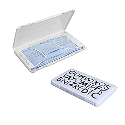 RGG Pack Caja para Guardar mascarillas mas Protector, Estuche Porta mascarillas Funda mascarillas (No Contiene…