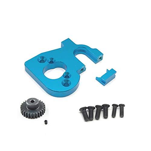 ZBSM Soporte de Montaje de Motor de Coche RC con Engranaje de Motor para 144001 124019 124018 Accesorios de ActualizacióN de Piezas de Repuesto RC, Azul