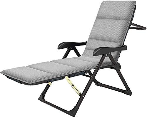ADHW - Sillón reclinable para exterior, jardín Rocking Chair, silla de relajación, fundas de cojín, silla de paseo, silla de paseo portátil, playa o baño de sol