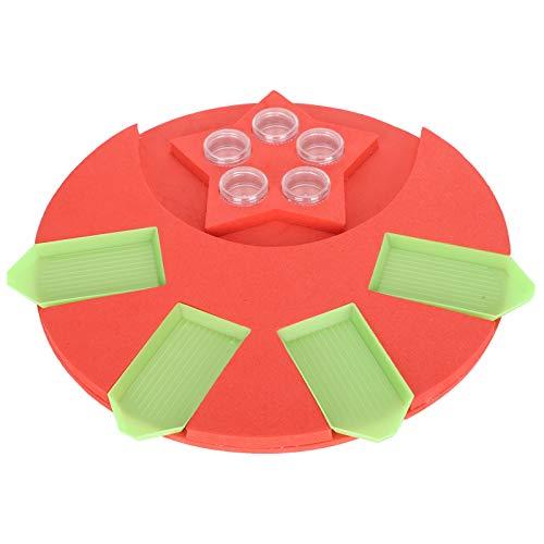 10 unids/set soportes para bandejas de pintura de diamantes, organizador de bandeja de puntos, kit de herramientas de almacenamiento para niños adultos, accesorio de dibujo