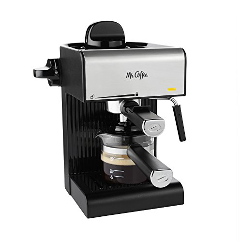 Mr Coffee BVMCECM180 Steam Espresso with Starter Set Black