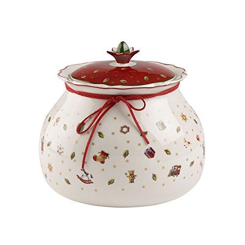 Villeroy & Boch Toy's Delight Große Vorratsdose, Premium Porzellan, Weiß/Rot