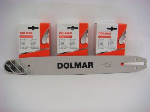 Dolmar 3 Ketten 1 Schiene Set 40cm für PS34, PS39, PS45, ES-173A, ES-163A NEU 092/40 cm