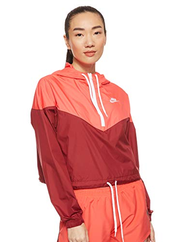 Nike Damen W NSW HRTG JKT WNDBRKR Jacket, Team Red/Ember Glow/White, L