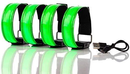 MUFENA Luz LED recargable para correr, con tiras reflectantes, función de luz LED estática y parpadeante, para correr, correr, ciclismo, caminar con perros y deportes al aire libre.