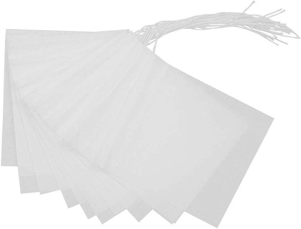 Adecco LLC Tea Filter Bags Disposable Tea Infuser Drawstring Empty Tea Bag For Loose Leaf Tea 100 Count 100
