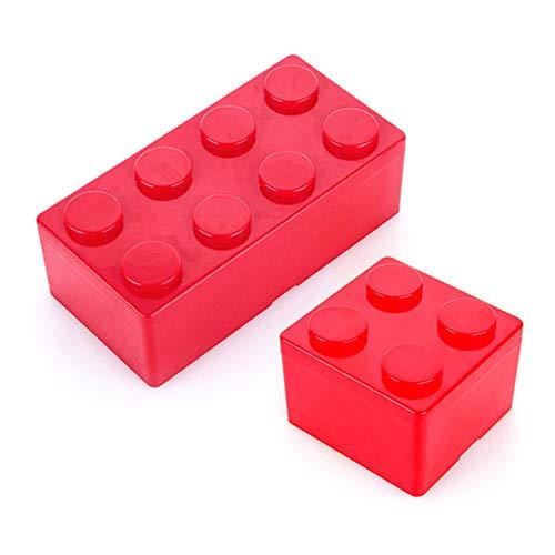 Junchuang Caja de almacenamiento de herramientas, caja de lápices, práctica caja de almacenamiento, portátil, ideal para la escuela, oficina, arte y suministros de manualidades, color Rectángulo rojo