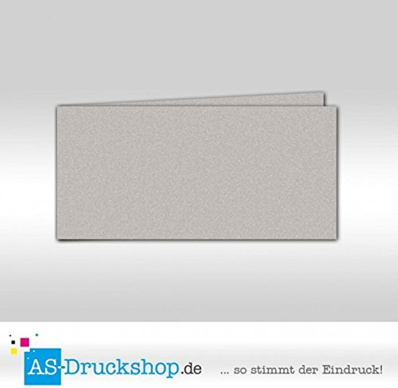 Faltkarte Faltkarte Faltkarte - Silber - mit Perlmutt-Glanz 50 Stück DIN Lang quer B0794XFQPJ  | Praktisch Und Wirtschaftlich  c53b68