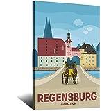 ASFGH Regensburg Deutschland Vintage Reise Poster Dekor