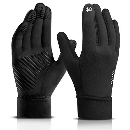 Winter Gloves for Men Women, SHSTFD Cold Weather Touch Screen Windproof Running Gloves