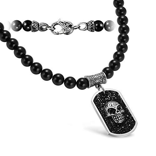 WESTMIAJW 8mm Mens Byzantine Bracelet Necklace Set Stainless Steel Silver Flat Chain Jewelry 55cm//60cm//70cm