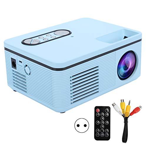 Wosune Proyector LCD, proyector casero Duradero, Mini tamaño pequeño para el hogar del Ordenador(Blue, Transl)