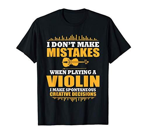 Jugador De Violín Fresco Diciendo Violín De Regalo Camiseta