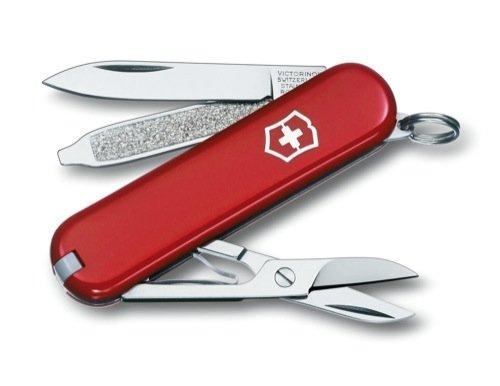 Victorinox Couteau Suisse de Poche Classic SD - 0.6223 - Rouge - 7 Pieces