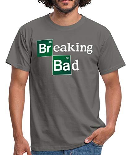 Breaking Bad Logo Brom & Barium Männer T-Shirt, XL, Graphit