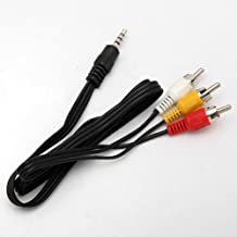 Durpower 3.5mm 5FT RCA Male to Male AV Video Composite Stereo Audio Cable for Canon DC Series DC330,DC410,DC411,DC420