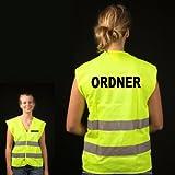 Warnweste gelb mit Aufschrift 'ORNDER'