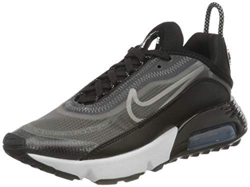 Nike W Air MAX 2090, Zapatillas para Correr Mujer, Black/White/Mtlc Silver, 37.5 EU