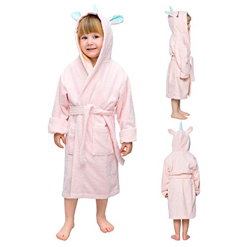 Albornoz de baño niño y niña Unicornio - Talla 9-10 Años