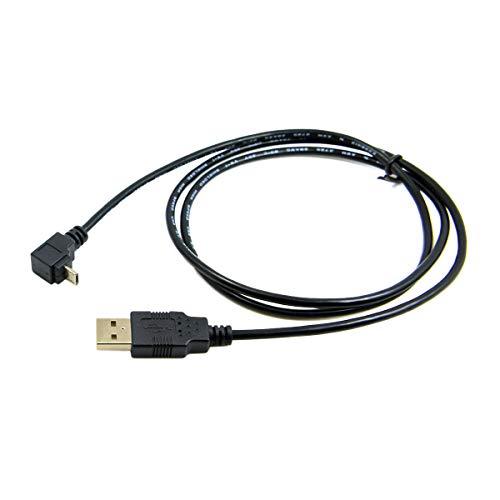 CY 1M abgewinkelt 90 Grad Micro USB Stecker auf USB Daten Ladekabel für Handy & Tablet