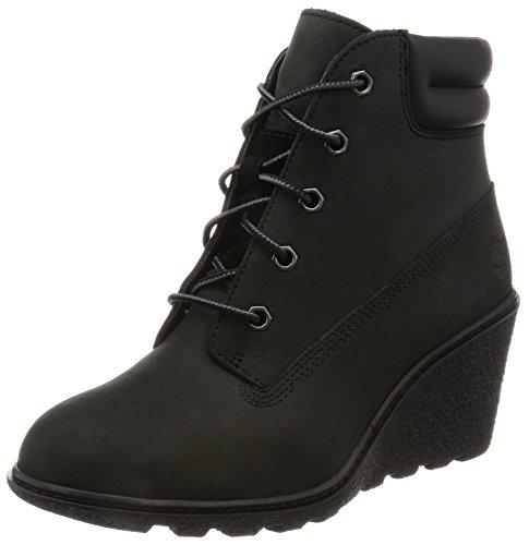 Timberland Damen Amston 6in Kurzschaft Stiefel, Schwarz (Black Nubuck), 40 EU