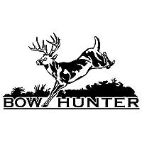 カーステッカー 16センチメートル* 9センチメートル弓ハンター狩猟カースタイリング車のステッカーの装飾ビニールデカール カーステッカー (Color Name : Black)